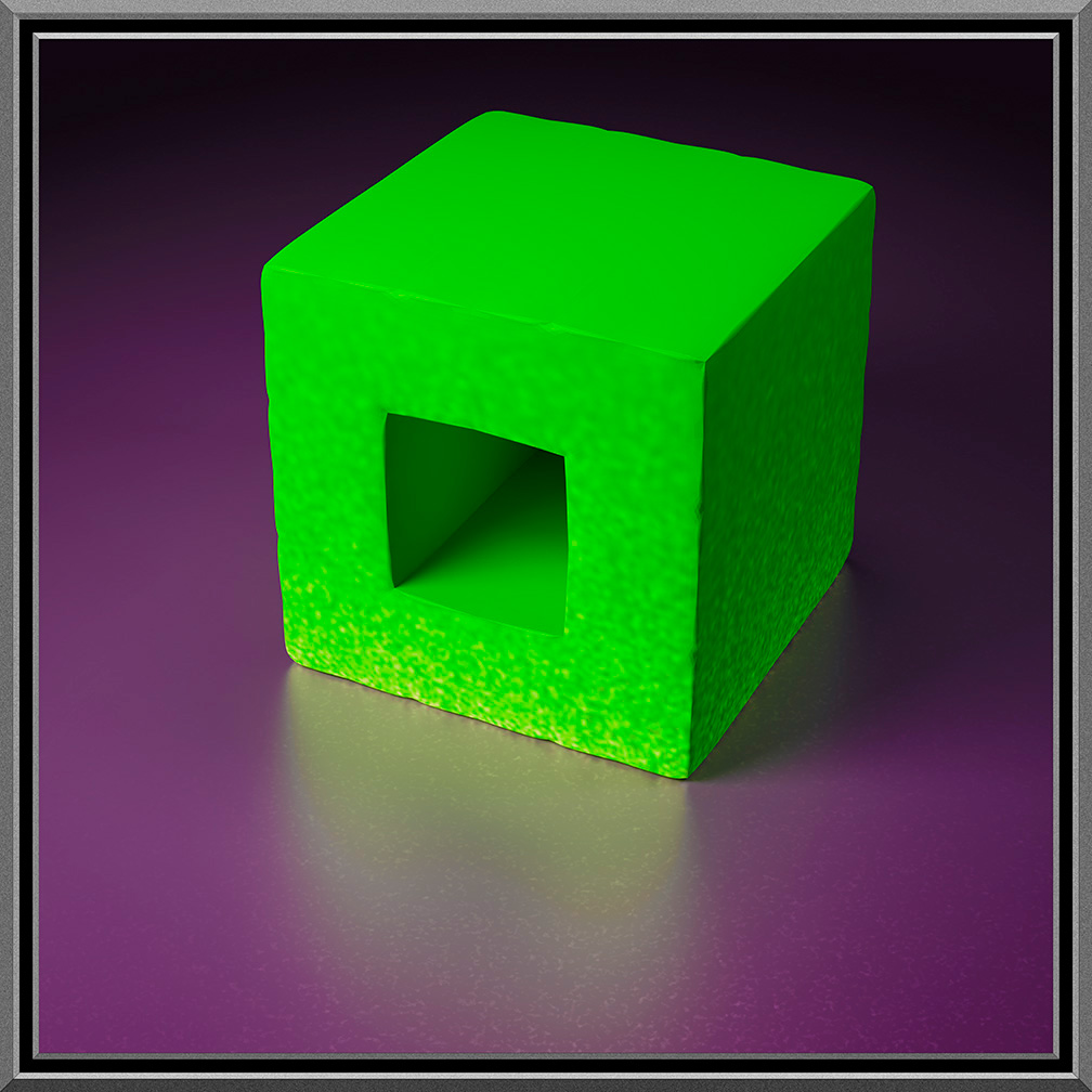 Green Holed Cube